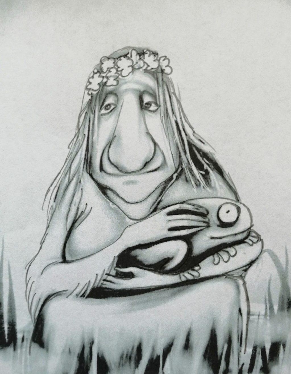 Картинки кикиморы нарисованные