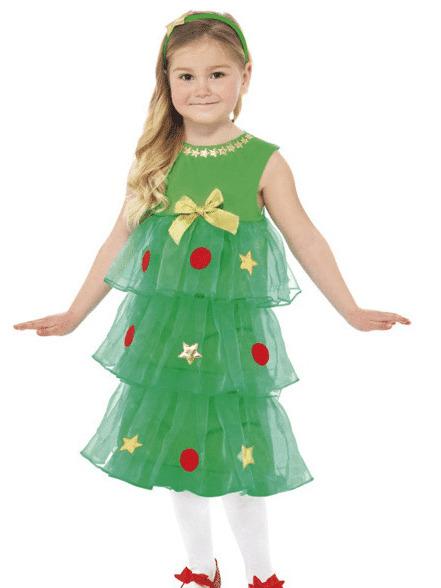 как сшить новогодний костюм елочки для девочки