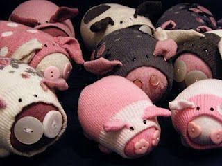 Свинка из носок поэтапно