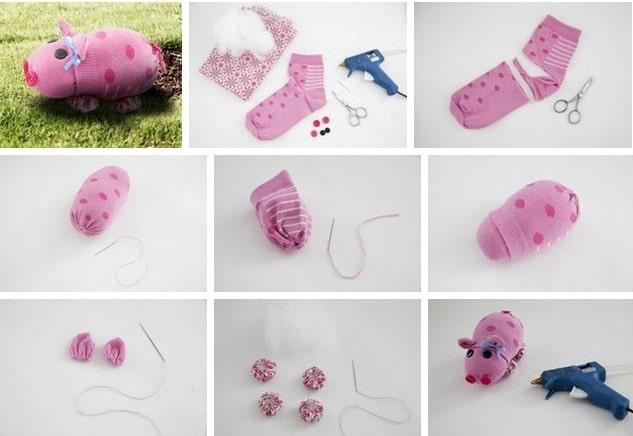 Как сделать свинку своими руками из носка