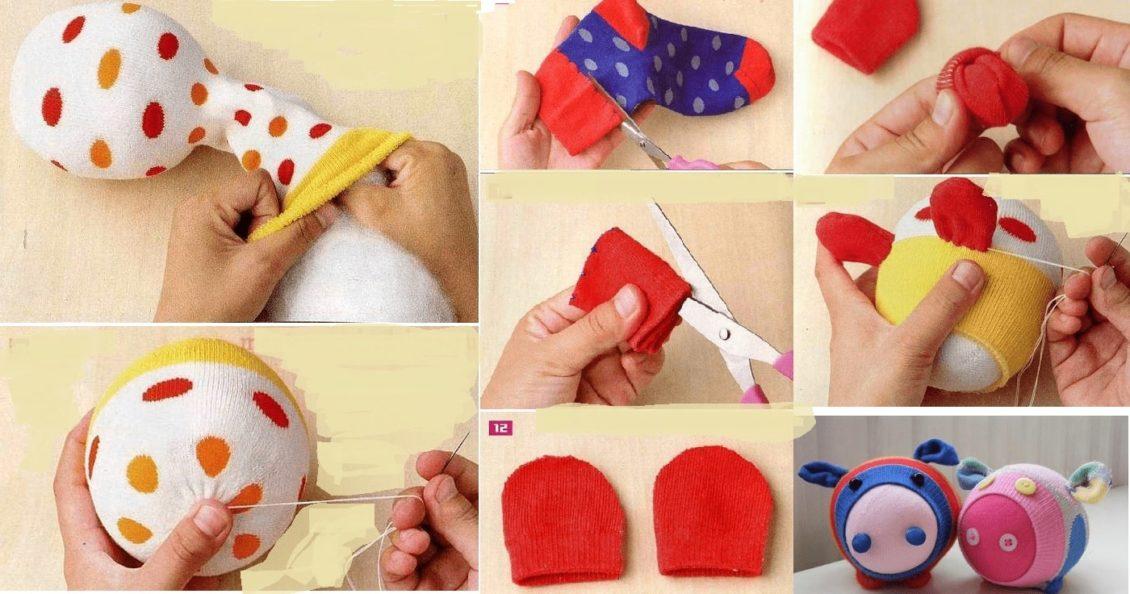 Как сделать свинку из носочка