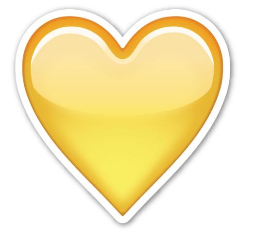 Жёлтое сердце в вк что значит